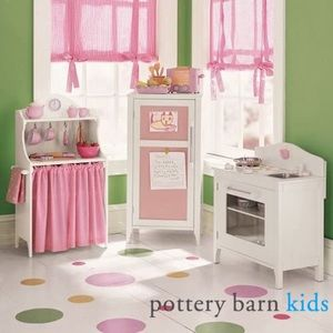 Pottery Barn Kids Pink Gingham Curtain